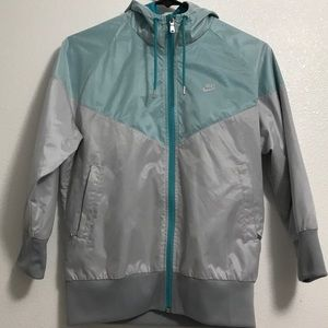 Teal And Gray Windbreaker | Nike Sportswear